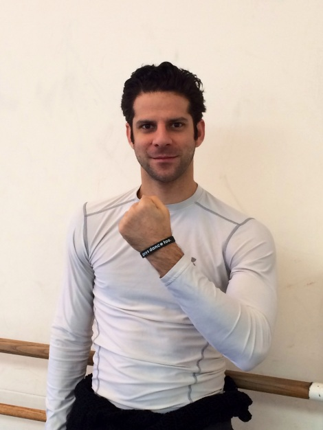 American Ballet Theater Principal dancer, Marcelo Gomes, sporting his Guys Dance Too wristband!